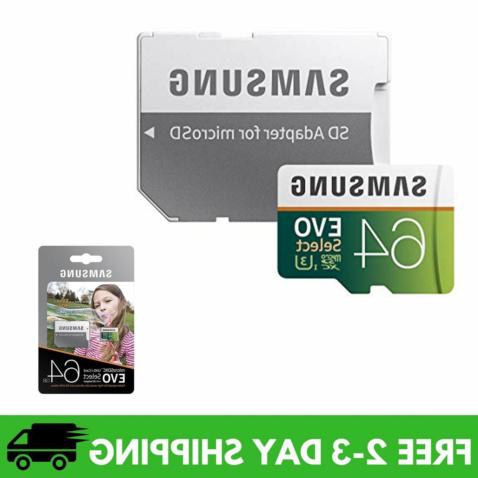 microsdxc evo select memory card