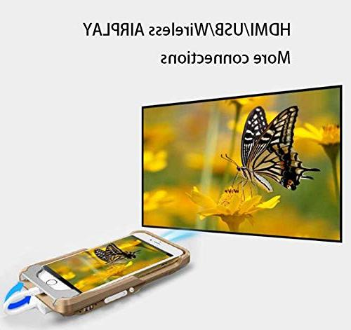 BAL Phone Projector, Handheld Mini Projector, 1080p Mobile with USB/Hdmi/Sd Card/Tf Card .Thank You for Your Support.