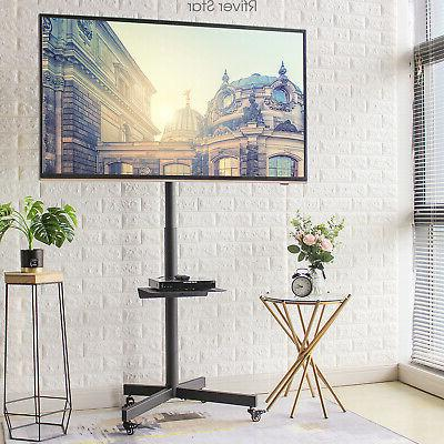 mobile tv cart stand with wheels swivel