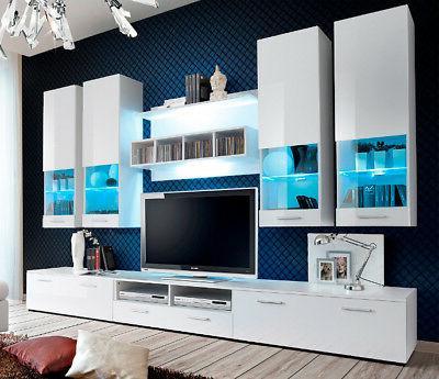 montreal 1 white wall unit entertainment center
