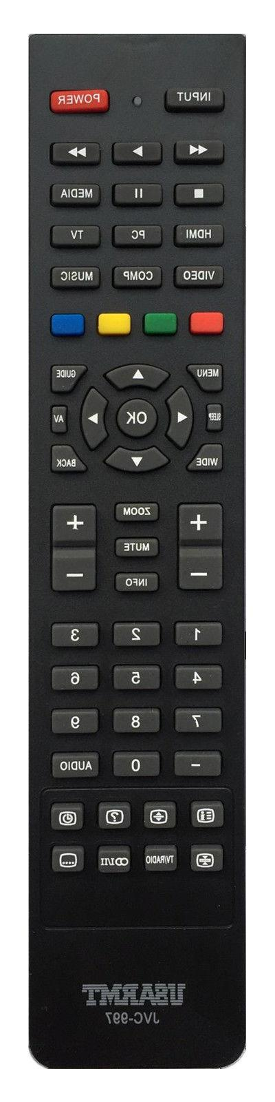 new jvc replaced tv remote control jvc
