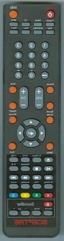 New SCEPTRE Remote For TV DVD Soundbar Combo f Sceptre TV X4