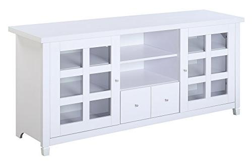 Convenience Concepts Newport Lane 60-Inch TV White