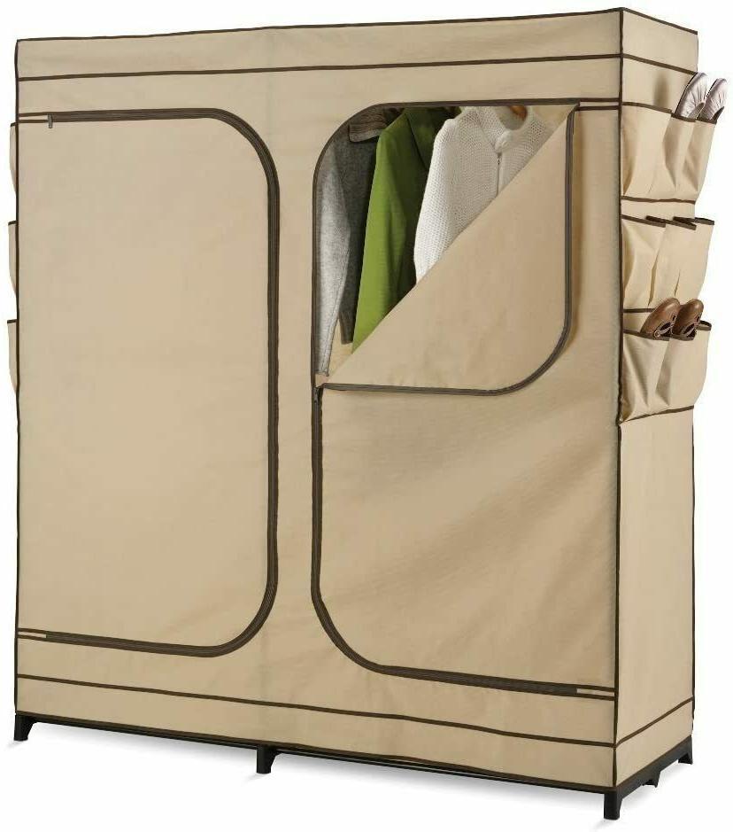 portable wardrobe closet shoe organizer 60 inch