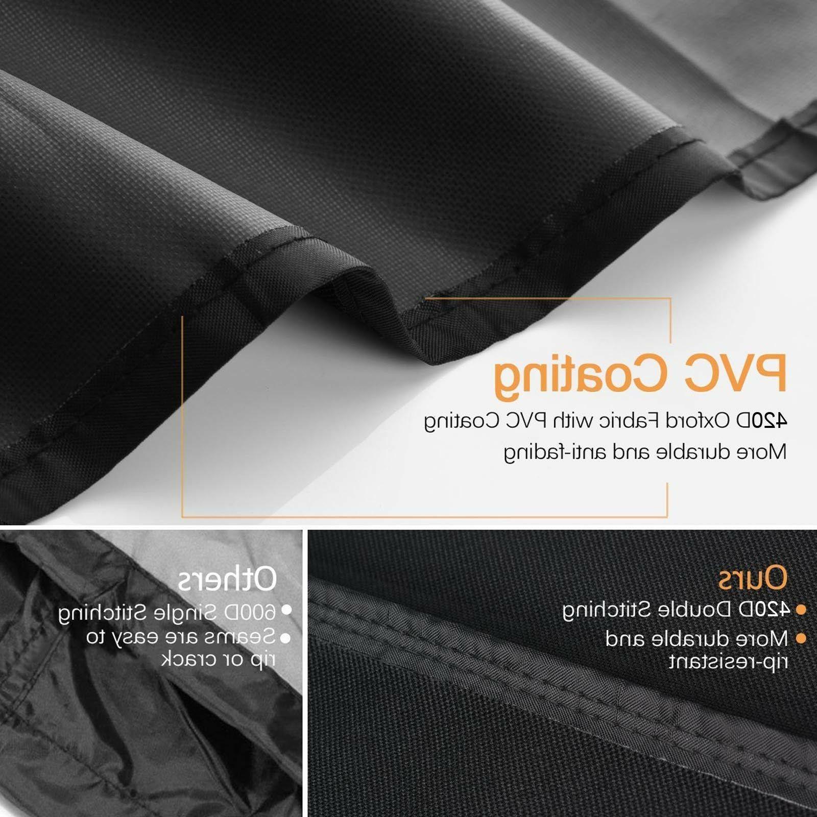 Premium BBQ Grill Cover - Rip-Proof, UV &