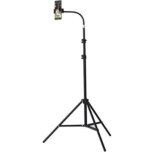 retractable adjustable tripod floor stand swanneck phone