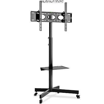 rolling mobile tv cart stand on wheels