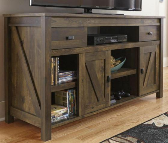 rustic tv stand console barn