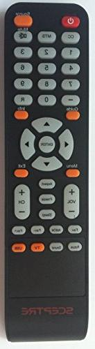 New Remote Control Compatible with Sceptre LCD LED TV X322BV