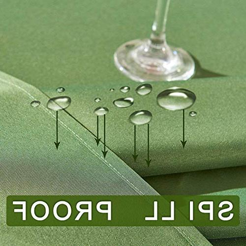 YEMYHOM Polyester Spillproof Tablecloths for Round 60 Camping Picnic Table Cloth