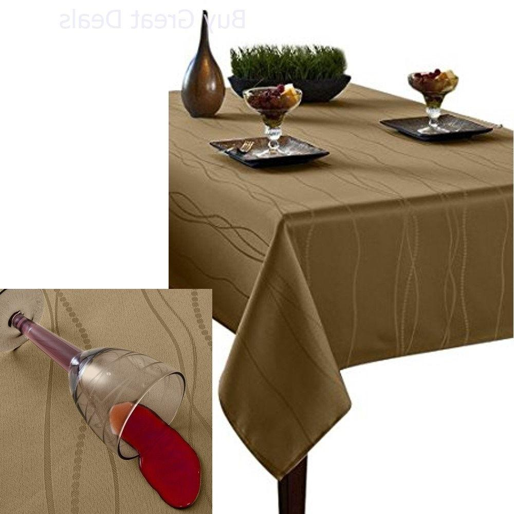 Spillproof Fabric Linen Tablecloth,  Polyester, Banquet Home