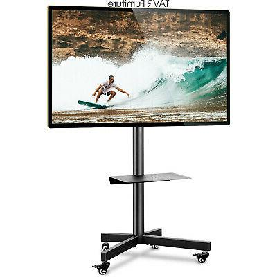 tall mobile tv cart rolling stand