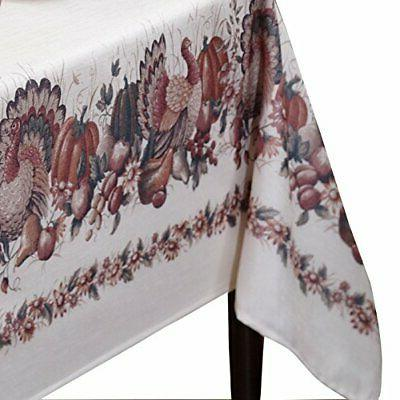Thanksgiving Printed Fabric 60-Inch-by-120 Inch