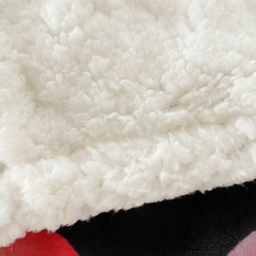 TO 3D Pattern Fleece Blanket Fan