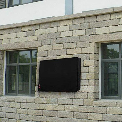 Outdoor TV Cover - Resistant Liner, Weatherproof LED, Plasma Television Built in Storage