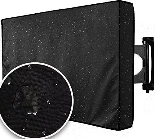 tv cover black weatherproof universal