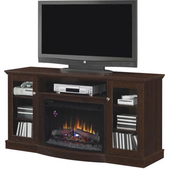 60 Inch TV Stand Fireplace Media Console Electric Entertainm