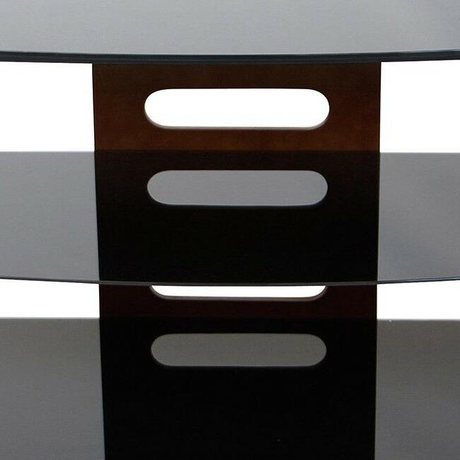 TV Stand Entertainment Wood Glass Inch