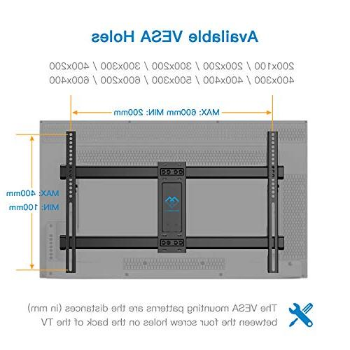 PERLESMITH TV Wall Bracket Articulating 37-70 OLED, Flat Screen,Plasma TVs 600x400mm with and Rotation
