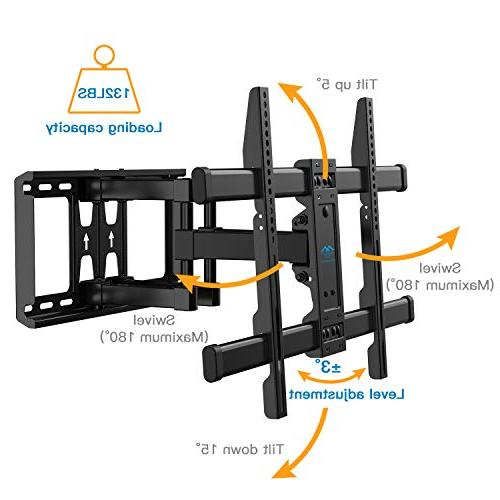 PERLESMITH TV Wall Mount Bracket Motion Articulating for 37-70 LED, OLED, 600x400mm with and Rotation