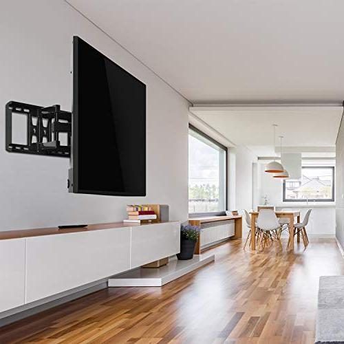 PERLESMITH TV Articulating 37-70 Inch OLED, Flat Screen,Plasma TVs up to 132lbs VESA 600x400mm Swivel