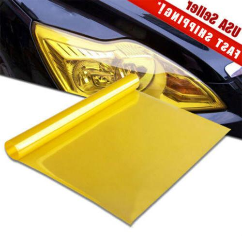 Universal 12x60inch Yellow Headlight Tailight light Tint