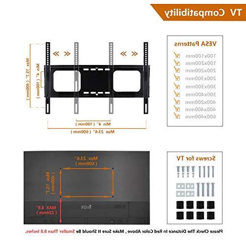 Rfiver TV 42 47 50 60 65 and Flat TVs Height Adjustment VESA 600x400mm,