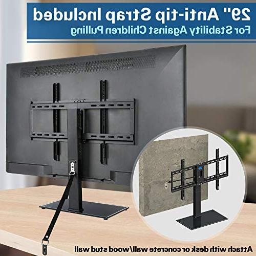 Mounting Stand, Top TV for Screen 4 Adjustment with Tempered Base, VESA 99 Strap