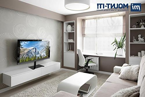 Mount-It Universal Tabletop Stand Mount and Media Glass TV Mount Bracket 32, 37,