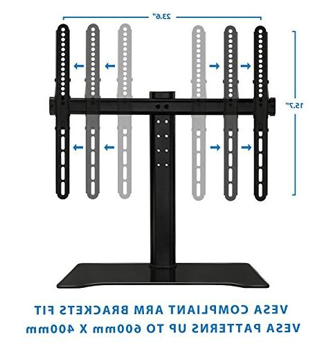 Mount-It Tabletop Stand Mount and Media Shelf, Mount Bracket Fits 37,