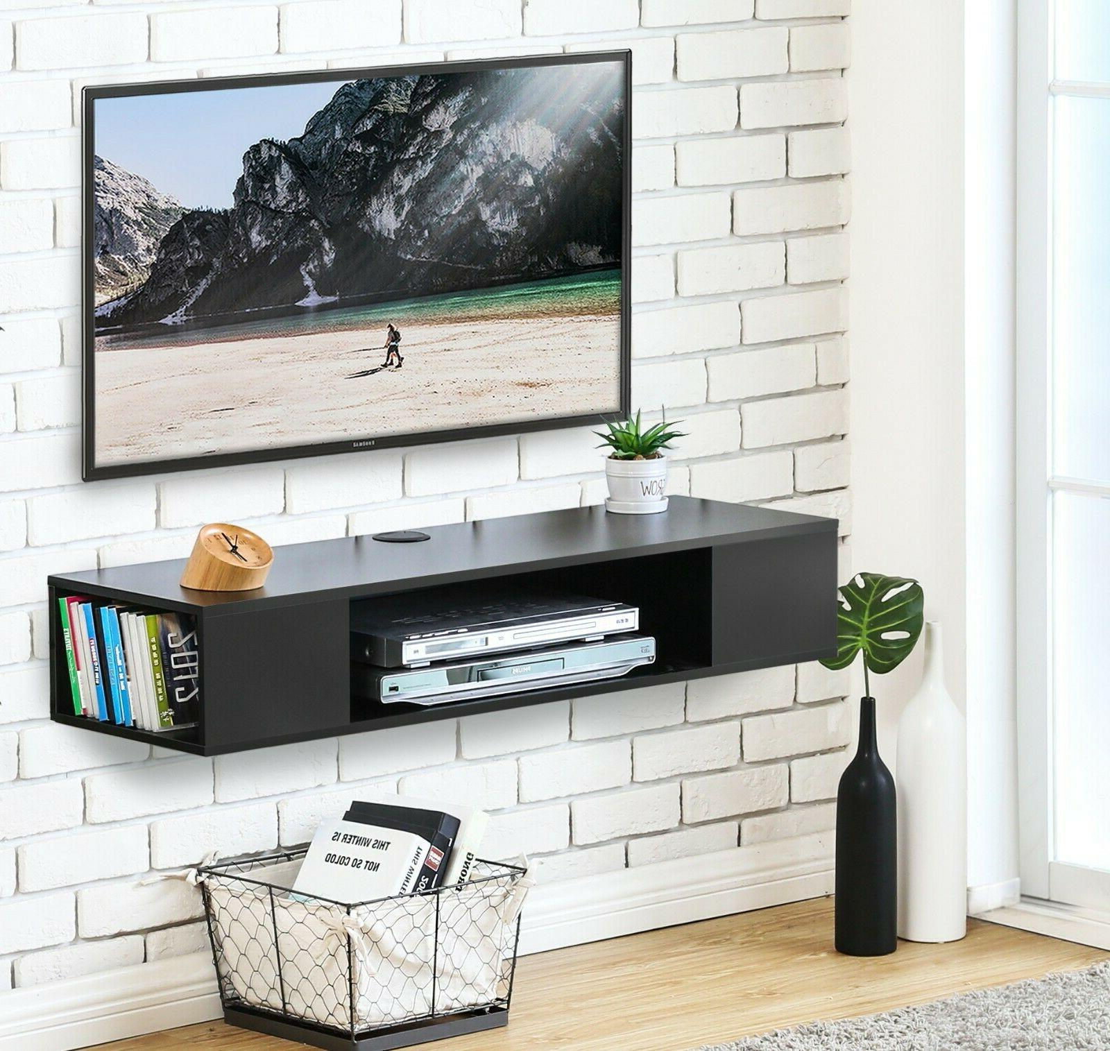Wall Mount TV Stand Shelves