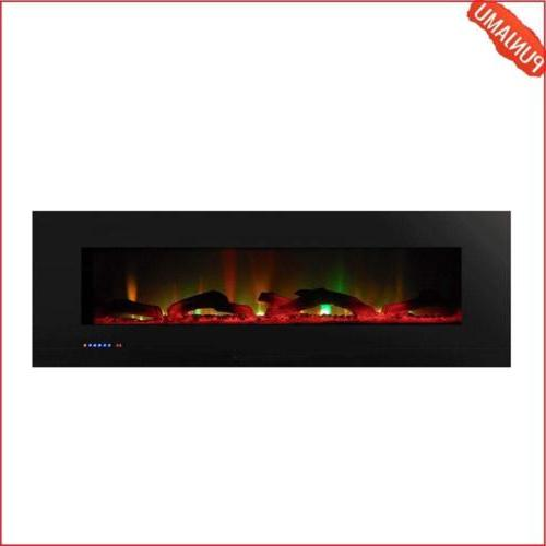 """Touchstone ValueLine 60"""" 10-Color Recessed Wall Electric Fir"""
