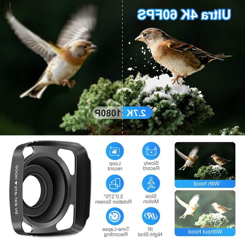 Video 60Fps Kicteck Ultra Hd Digital Wifi 3 Inch