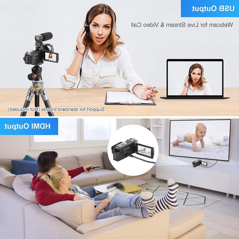 Video Camera Camcorder 60Fps Kicteck 3