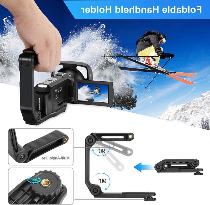 Video Camera Camcorder 60Fps Digital Wifi 48Mp 3