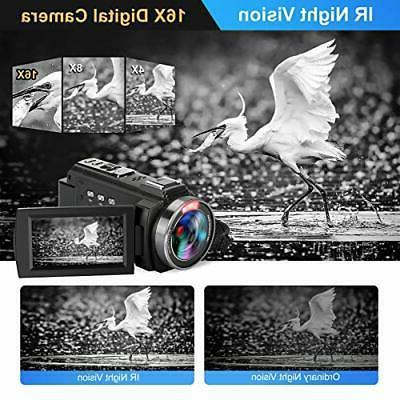 Video Camera Camcorder 60FPS Ultra WiFi Camera 48MP 3 inch