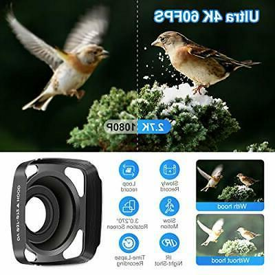Video Camcorder 60FPS HD Digital WiFi Camera inch
