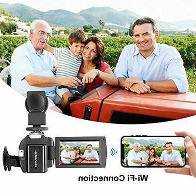 Video Camera 4K 60FPS Ultra Digital WiFi Camera inch