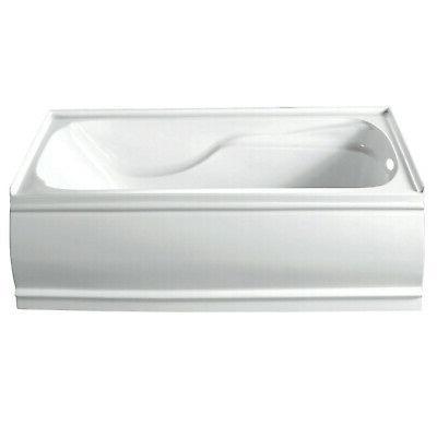 vtde603221l contemporary alcove acrylic bathtub