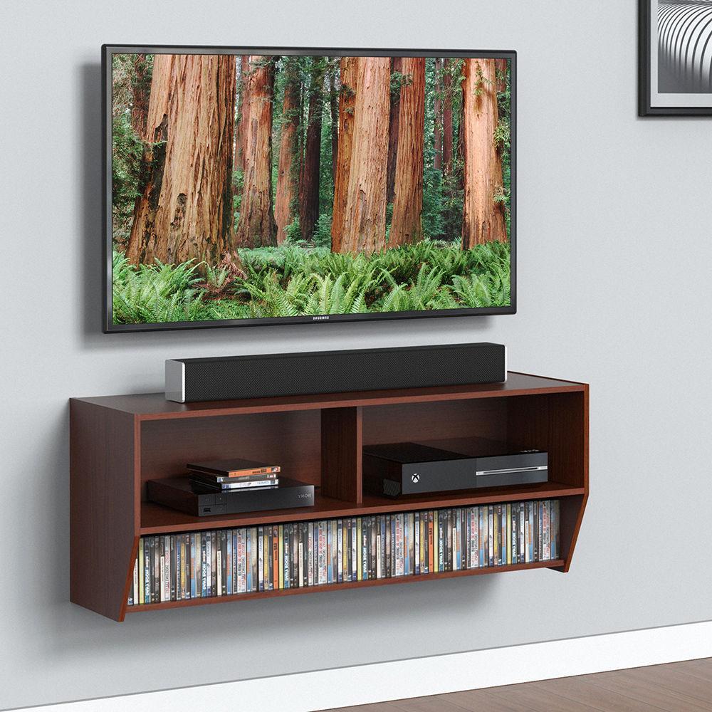 Wall Media Console Entertainment Center TV Desktop stand