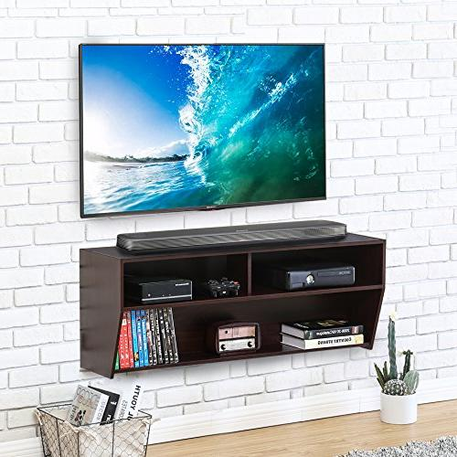 wall mount media console center