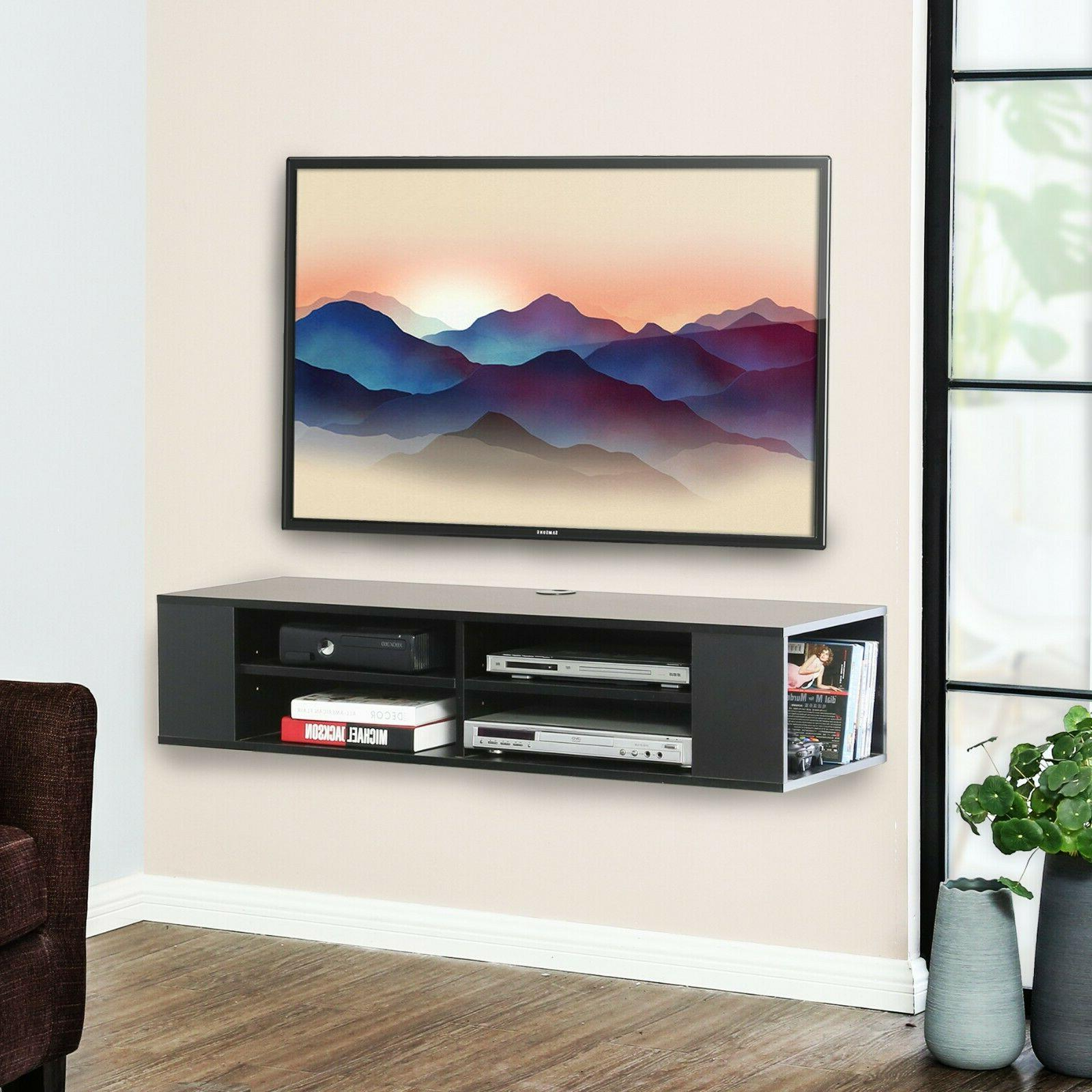 wall mount media console floating tv stand