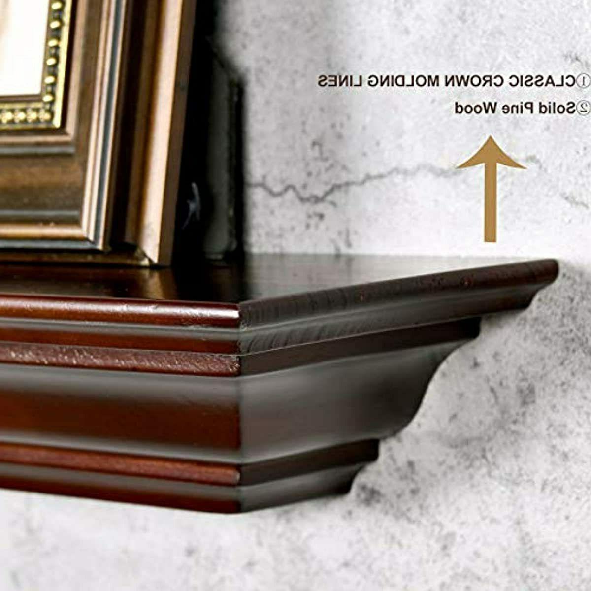 WELLAND Pine Fireplace Mantel Shelf inch,Wall Mounted Corona Crown