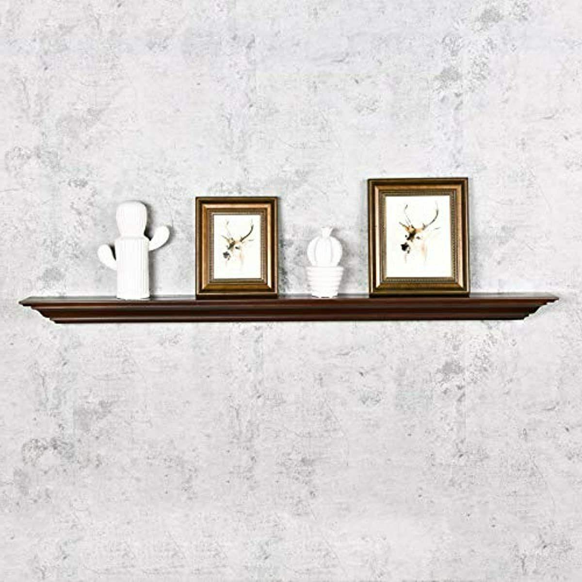 WELLAND Pine Wood Mantel Shelf Mounted