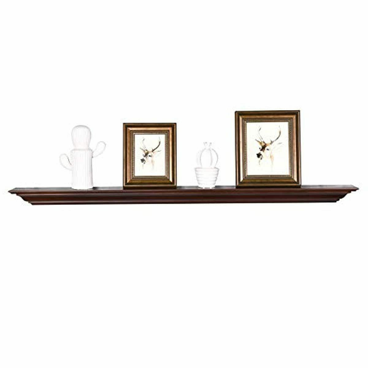 welland pine wood fireplace mantel shelf 60