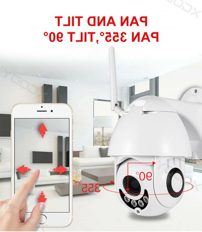 Wireless HD WiFi 5X CCTV IP Camera Home IR US