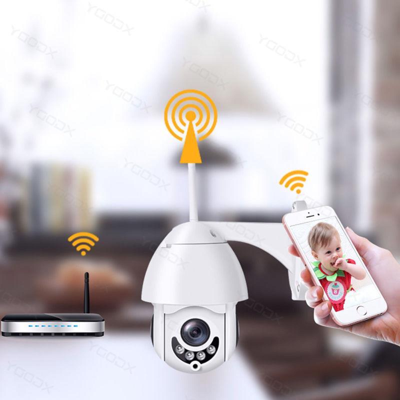 Wireless WiFi 5X ZOOM IP Camera Security IR