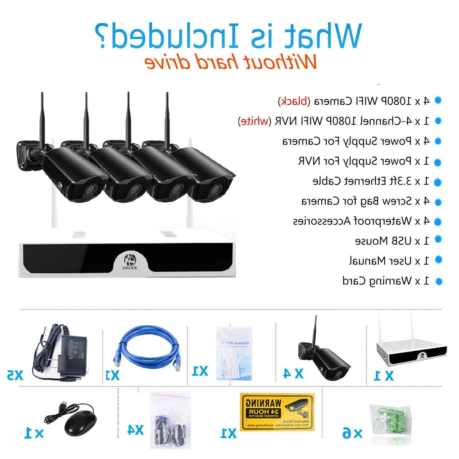 JOOAN Wireless 1080P Security Outdoor System Kit