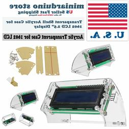 LCD1602 Transparent Acrylic LCD Shell for 2.5'' 1602 yellow/