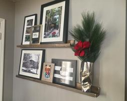 Ledge Picture Shelf Floating Wall Rustic Wooden Home Decor B